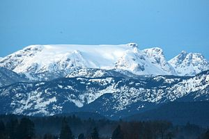 Winter Morning, Comox Glacier