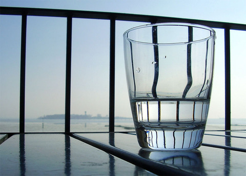 Photo: Water: Is the glass half empty or half full?