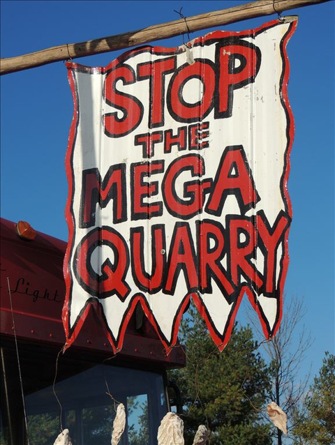 Photo: Mega-quarry victory shows people have the power