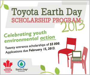 Toyota Earth Day Scholarship