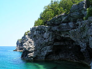 View of Georgian Bay, located on the Bruce Pen...