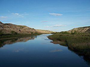 The Red Deer River. Picture taken in Drumhelle...