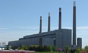English: The Lakeview coal-fired power plant, ...