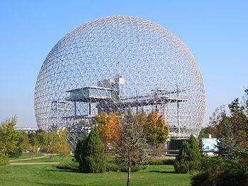 Français : Biosphère de Montréal au Canada en ...