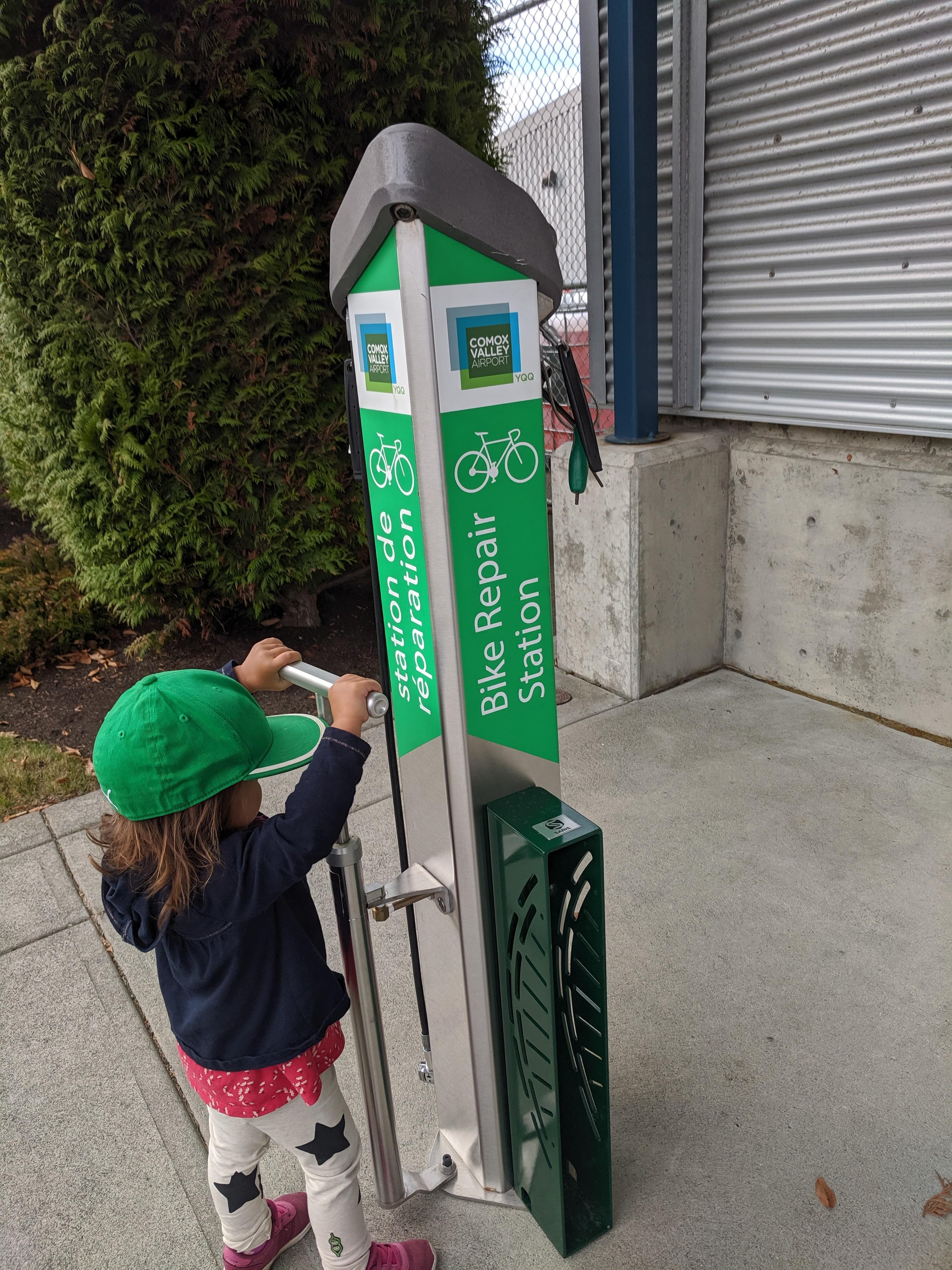 Bike Repair Station at YQQ
